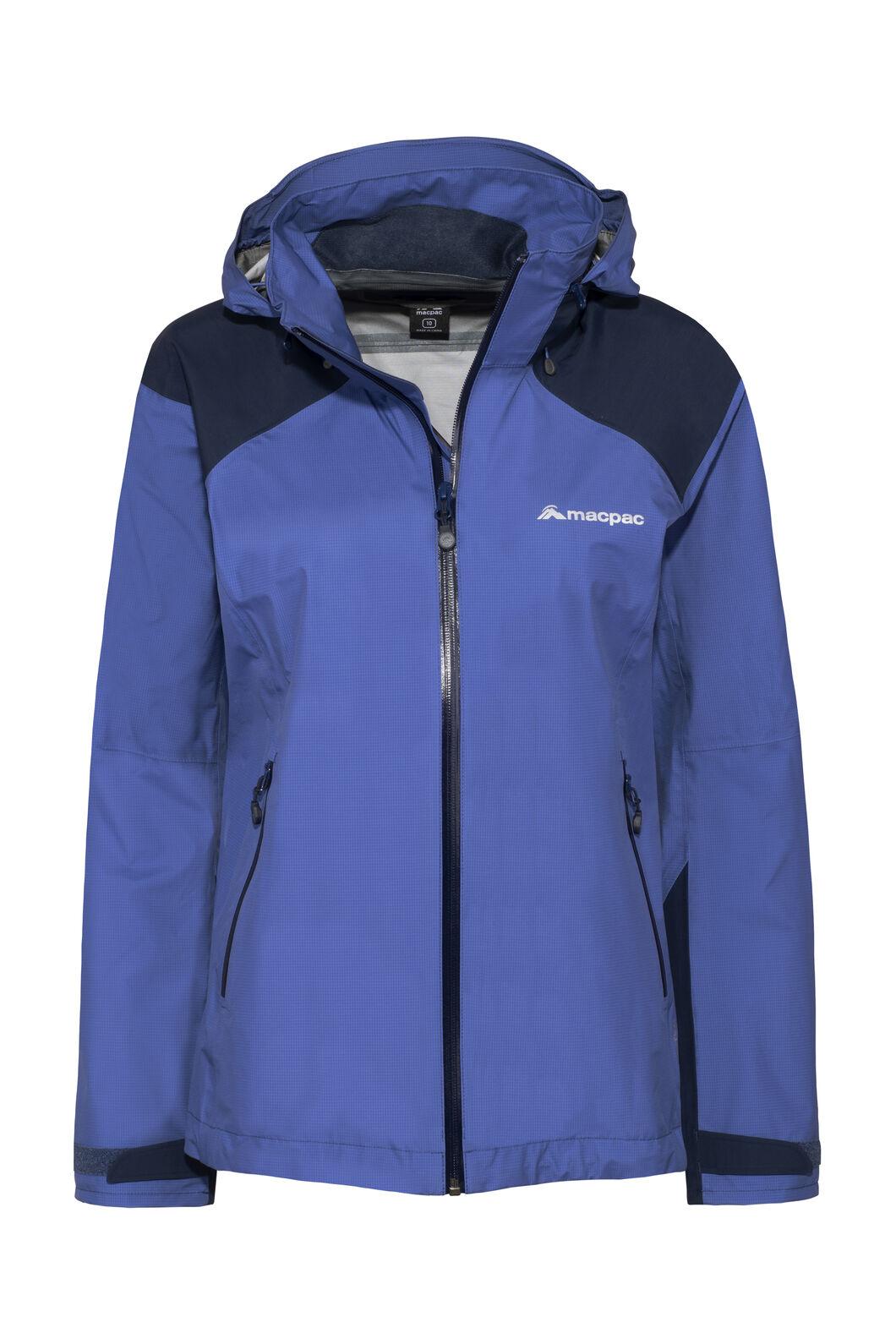 Macpac Traverse Pertex® Rain Jacket — Women's, Marlin/Black Iris, hi-res