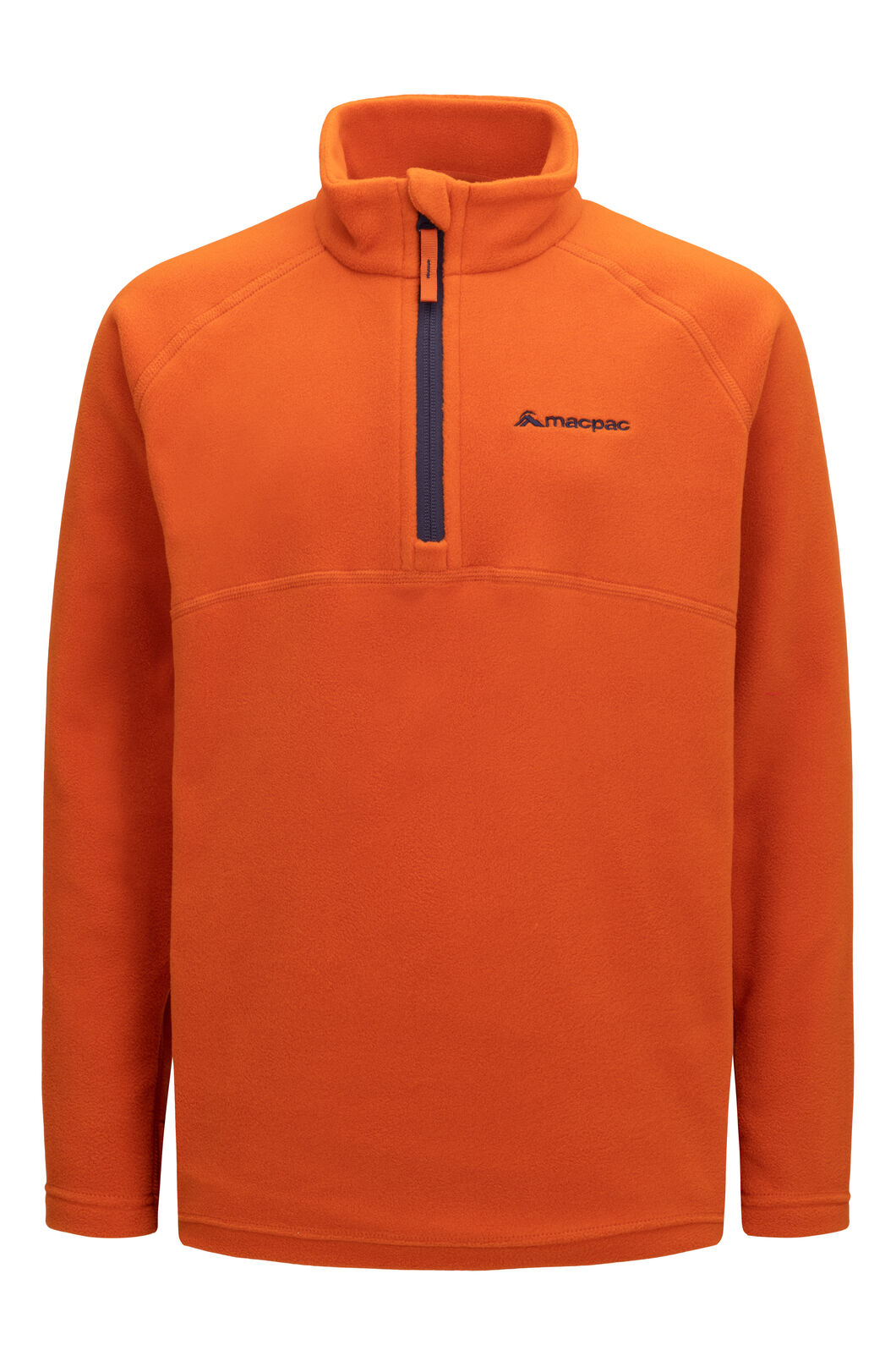 Macpac Tui Polartec® Fleece Pullover — Kids', Orange Flame, hi-res