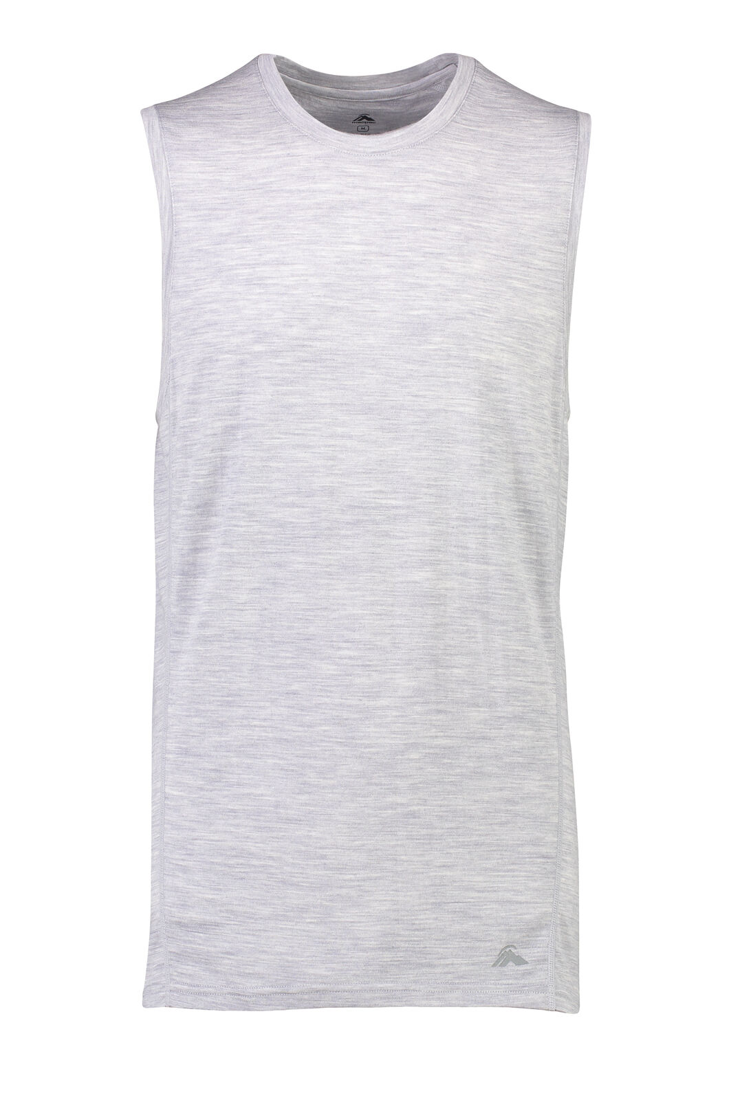Macpac 150 Merino Singlet — Men's, Light Grey Marle, hi-res