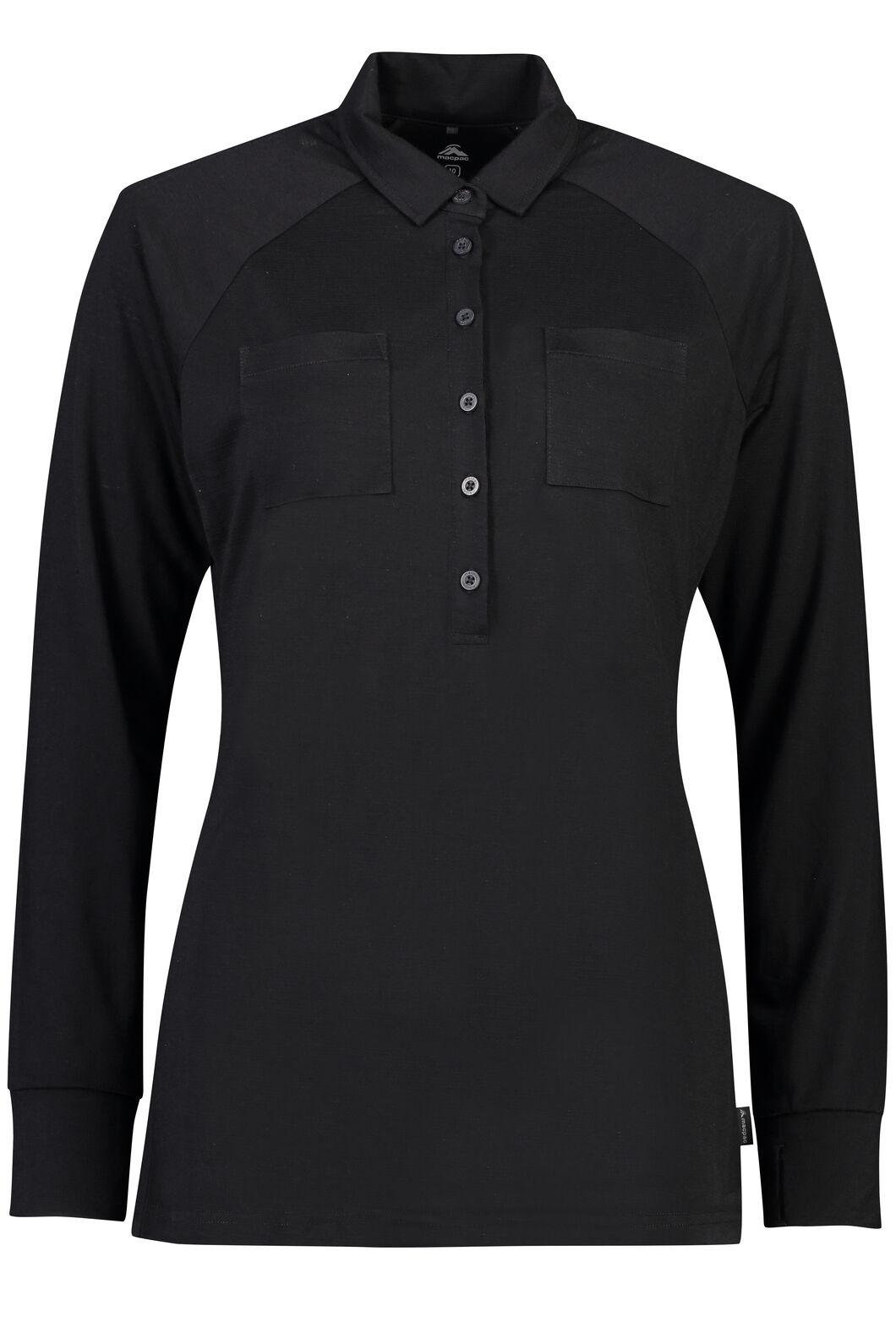 Macpac Rove Merino Blend Long Sleeve - Women's, Black, hi-res