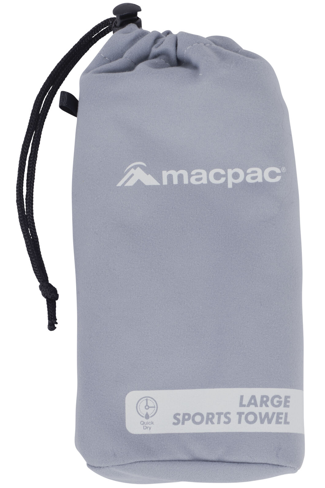 Macpac Sports Towel Large, Charcoal, hi-res