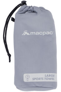 Macpac Sports Towel Large, Charcoal, hi-res