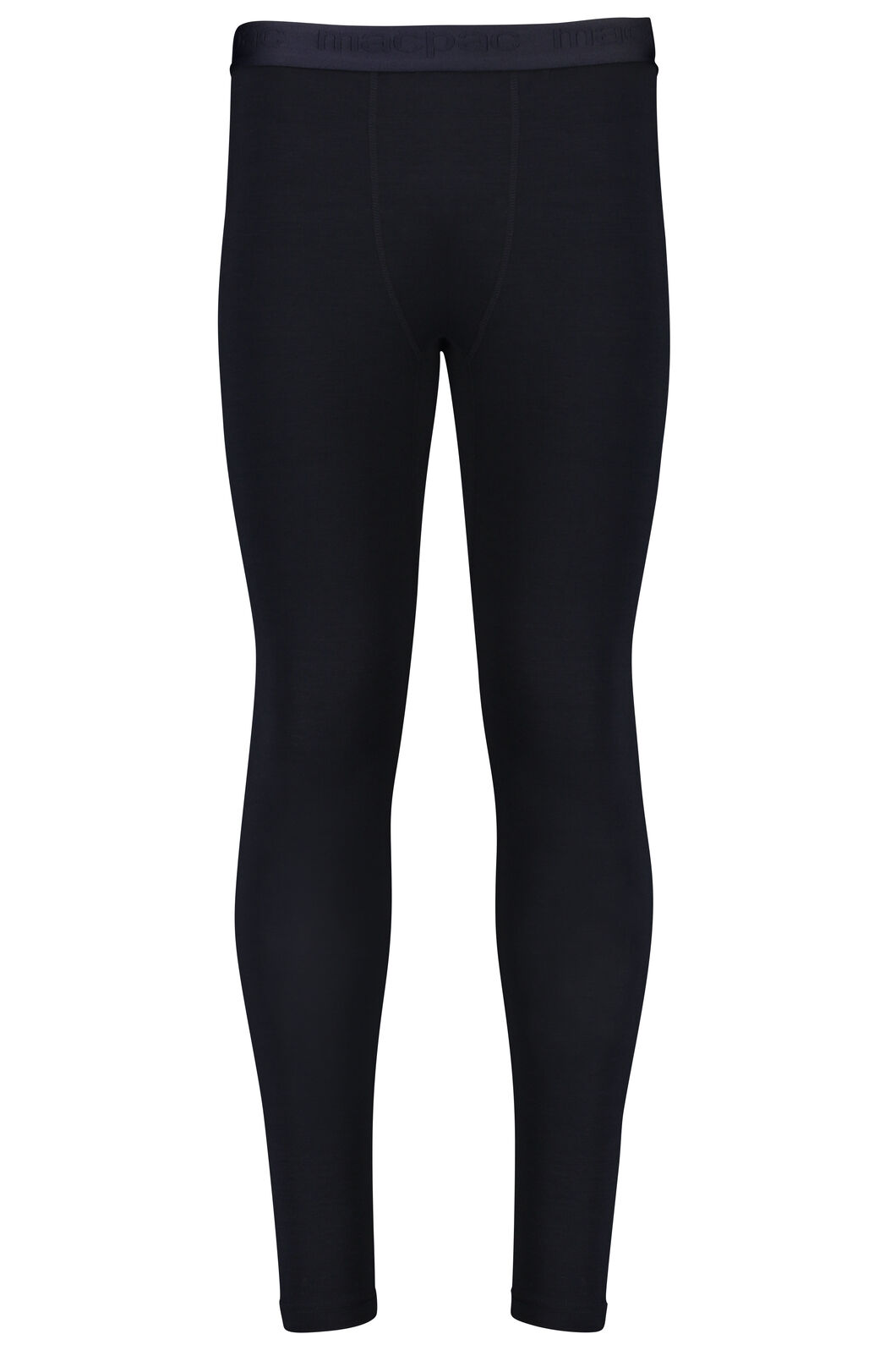 Macpac 180 Merino Long Johns — Men's, Black, hi-res