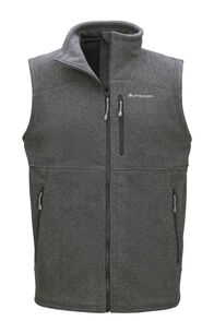 Macpac Dunstan Fleece Vest — Men's, Monument/Asphalt, hi-res