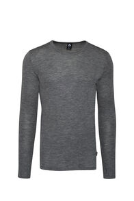 Macpac 220 Merino Long Sleeve Top — Men's, Mid Grey Marle, hi-res