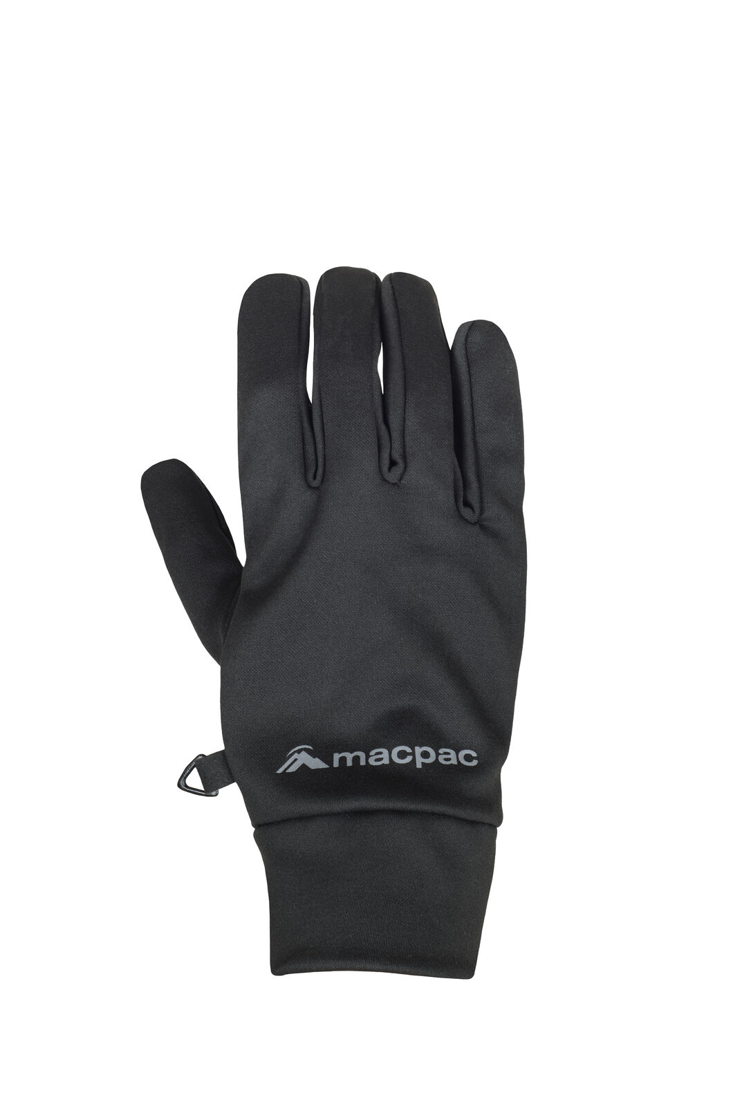 Macpac Stretch Gloves, Black, hi-res