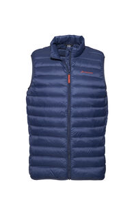 Macpac Uber Light Down Vest — Men's, Black Iris/Rooibos Tea, hi-res