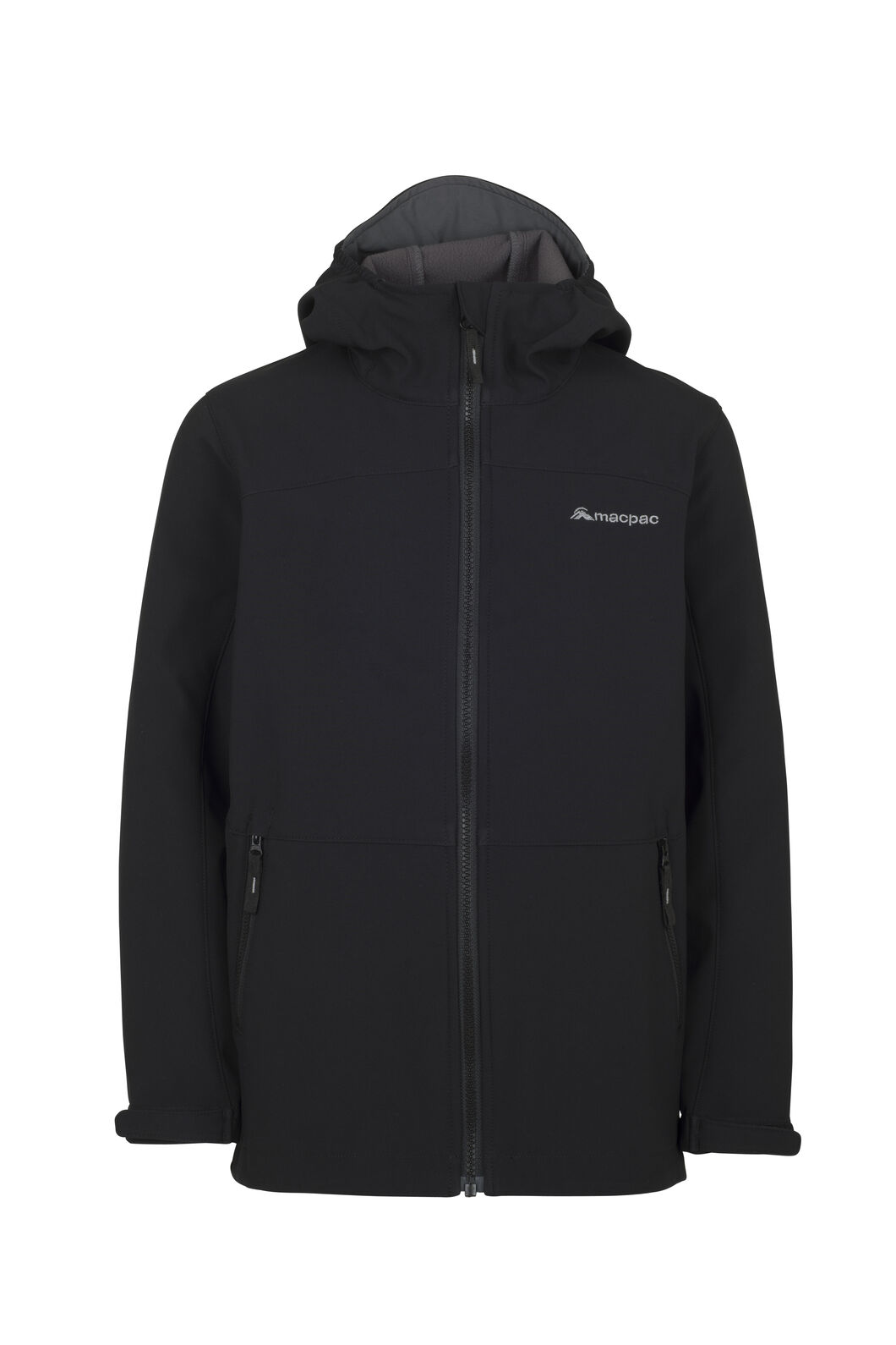 Macpac Sabre Hooded Jacket - Kids', Black, hi-res
