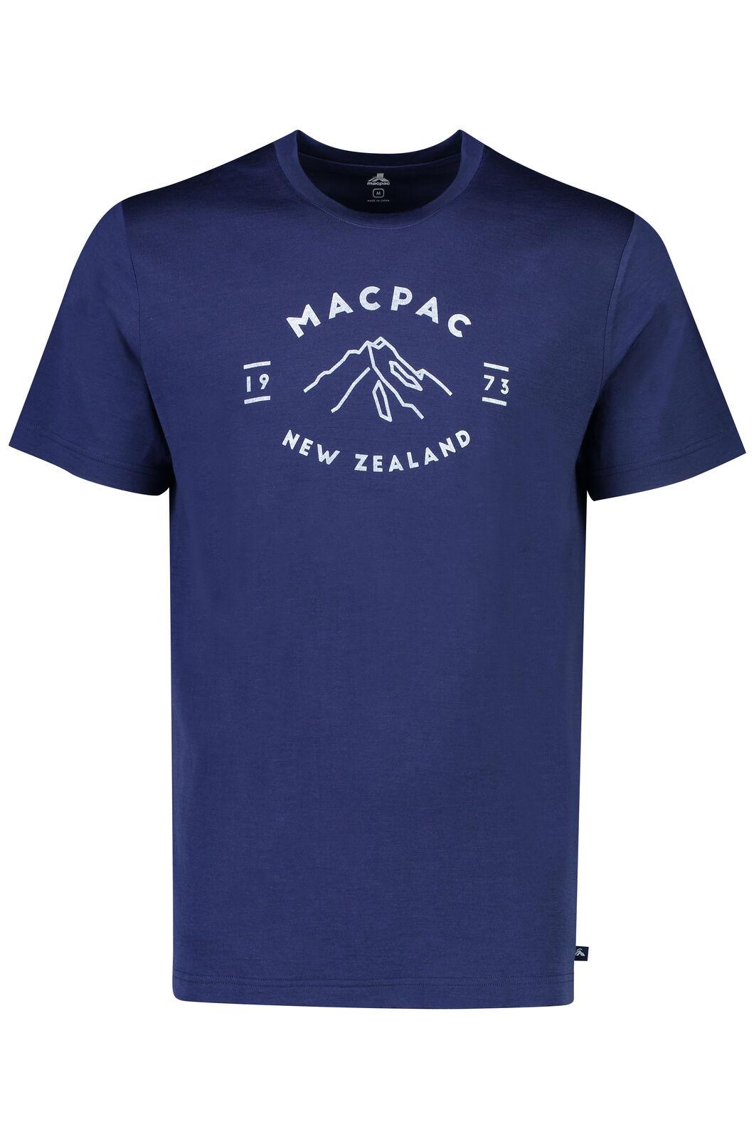 Macpac Mountain  Merino 180 Tee - Men's, Medieval Blue, hi-res
