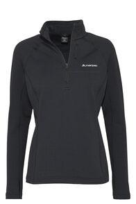 Macpac Ion Polartec® Fleece Half Zip Pullover — Women's, Black, hi-res