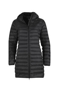 Macpac Uber Light Hooded Down Coat — Women's, Black, hi-res