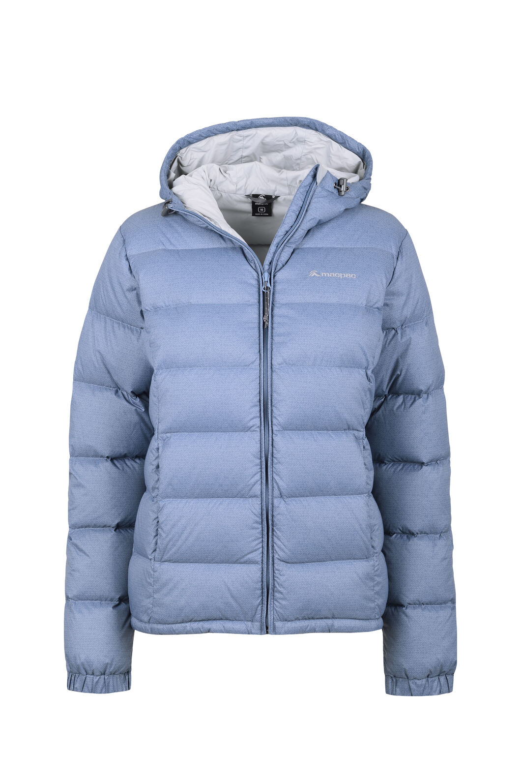 Macpac Halo Hooded Down Jacket - Women's, China Blue Print, hi-res