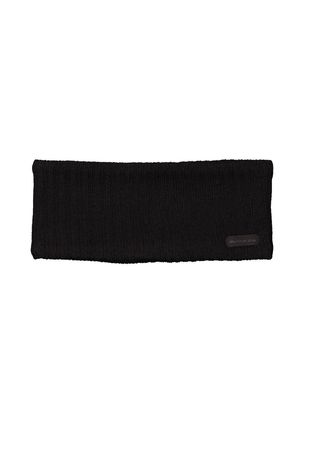Macpac Merino Headband, Black, hi-res