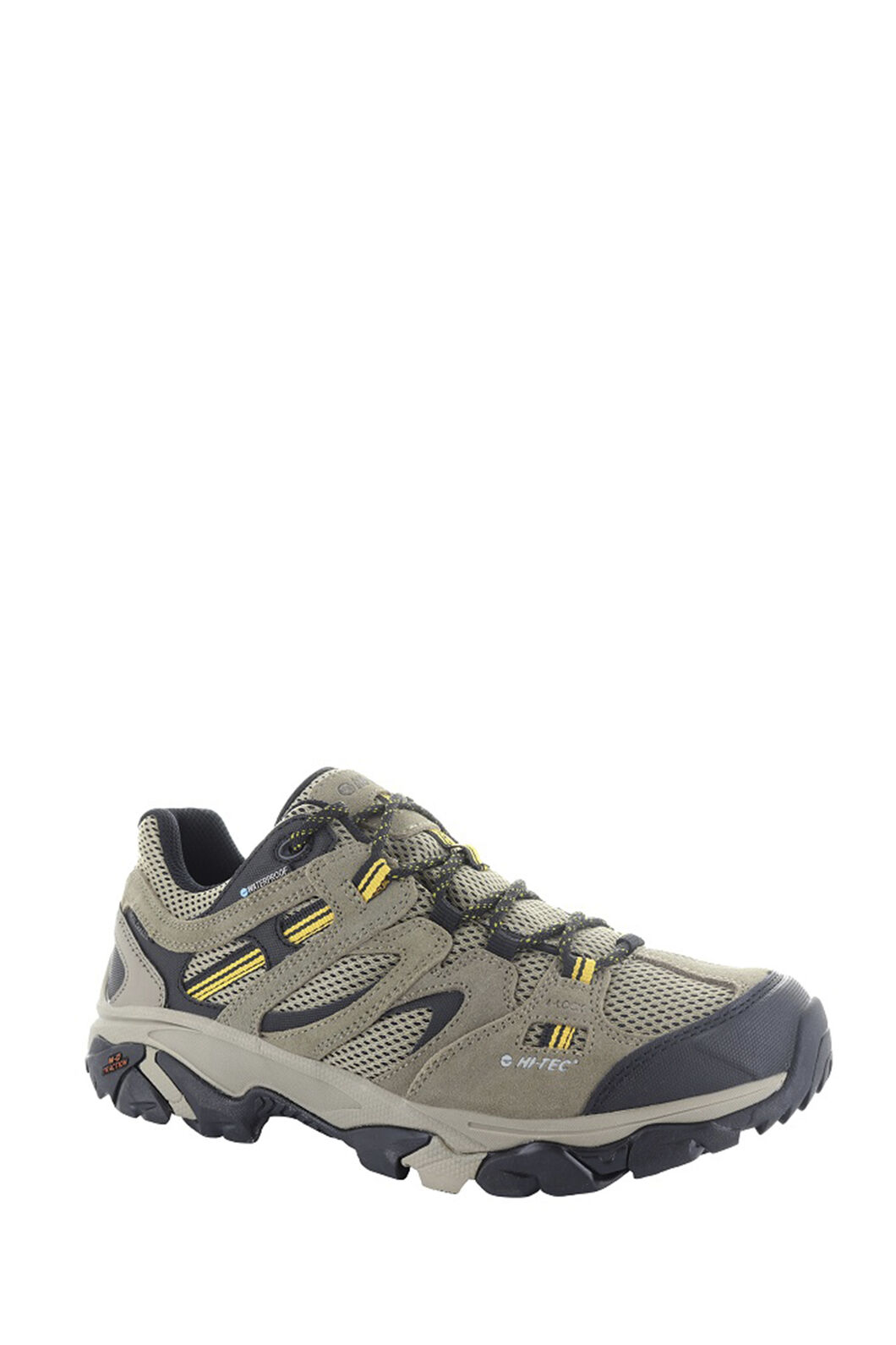 Hi-Tec Ravus Vent Low WP Shoes — Men's, Taupe/Stone/Core Gold, hi-res