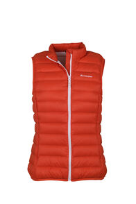 Macpac Uber Light Down Vest — Women's, Mandarin Red, hi-res