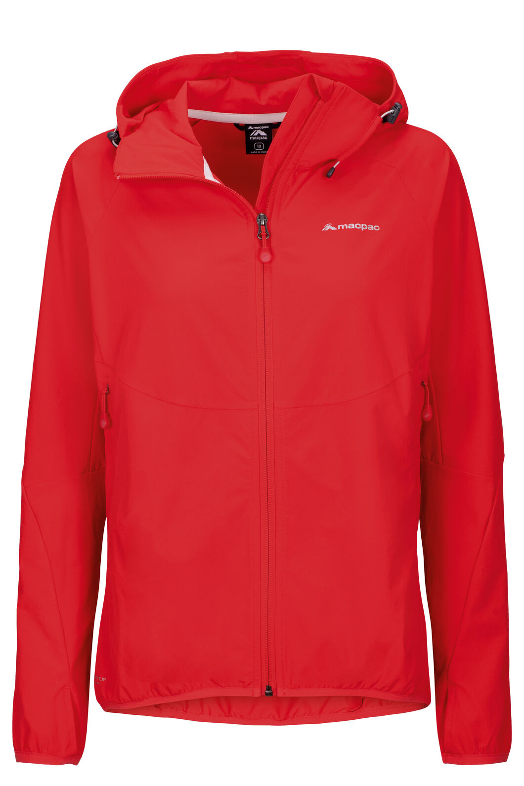 Macpac Mannering Pertex® Hooded Jacket — Women's, Flame Scarlet, hi-res