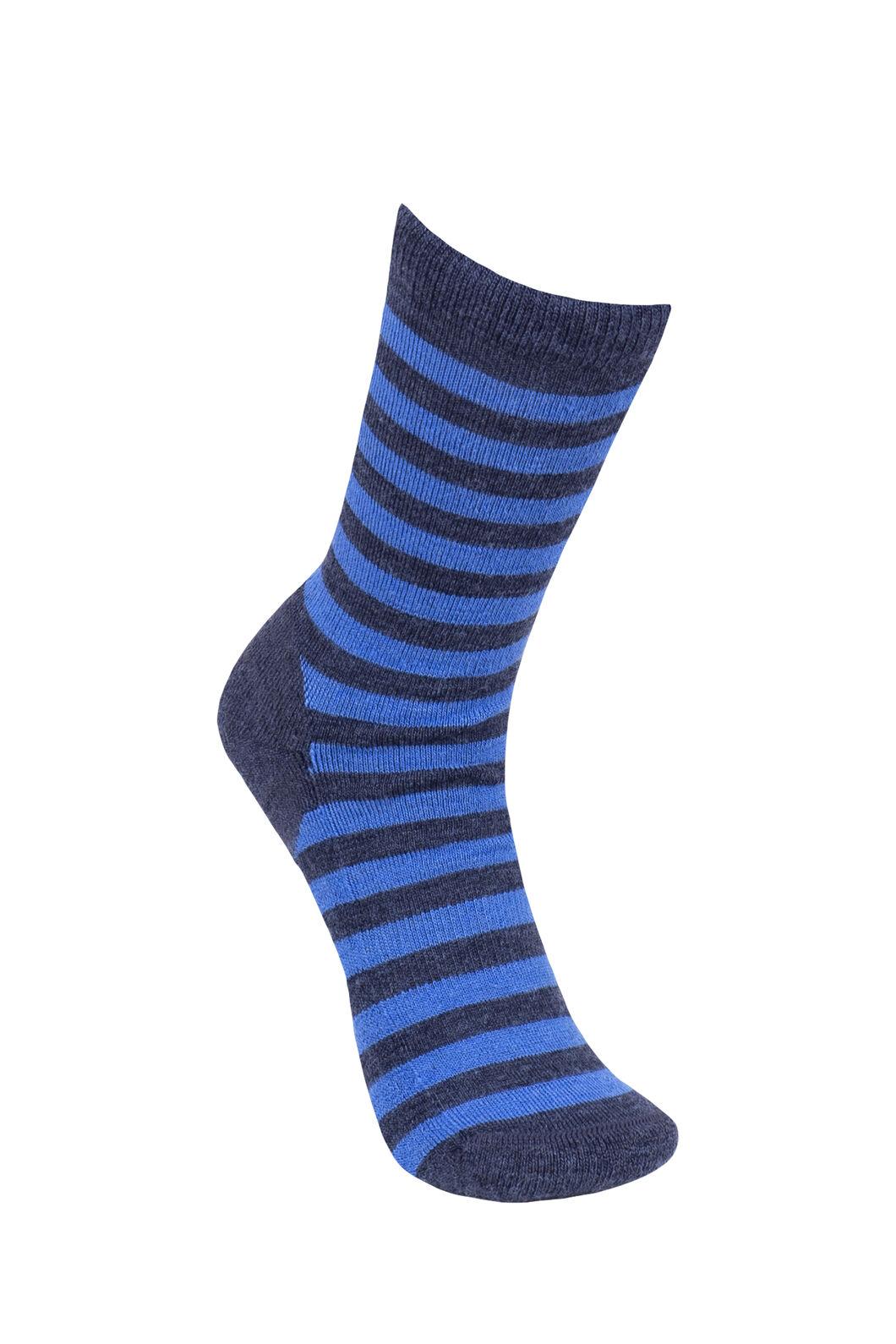 Macpac Footprint Socks Kids', Skydiver/Black Iris, hi-res