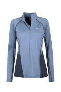 Macpac Casswell Long Sleeve Shirt - Women's, China Blue/Mood Indigo, hi-res