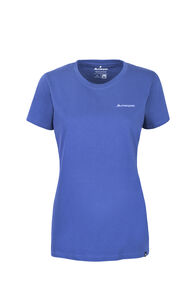 Macpac Mt Aspiring Fairtrade Organic Cotton Tee — Women's, True Navy, hi-res