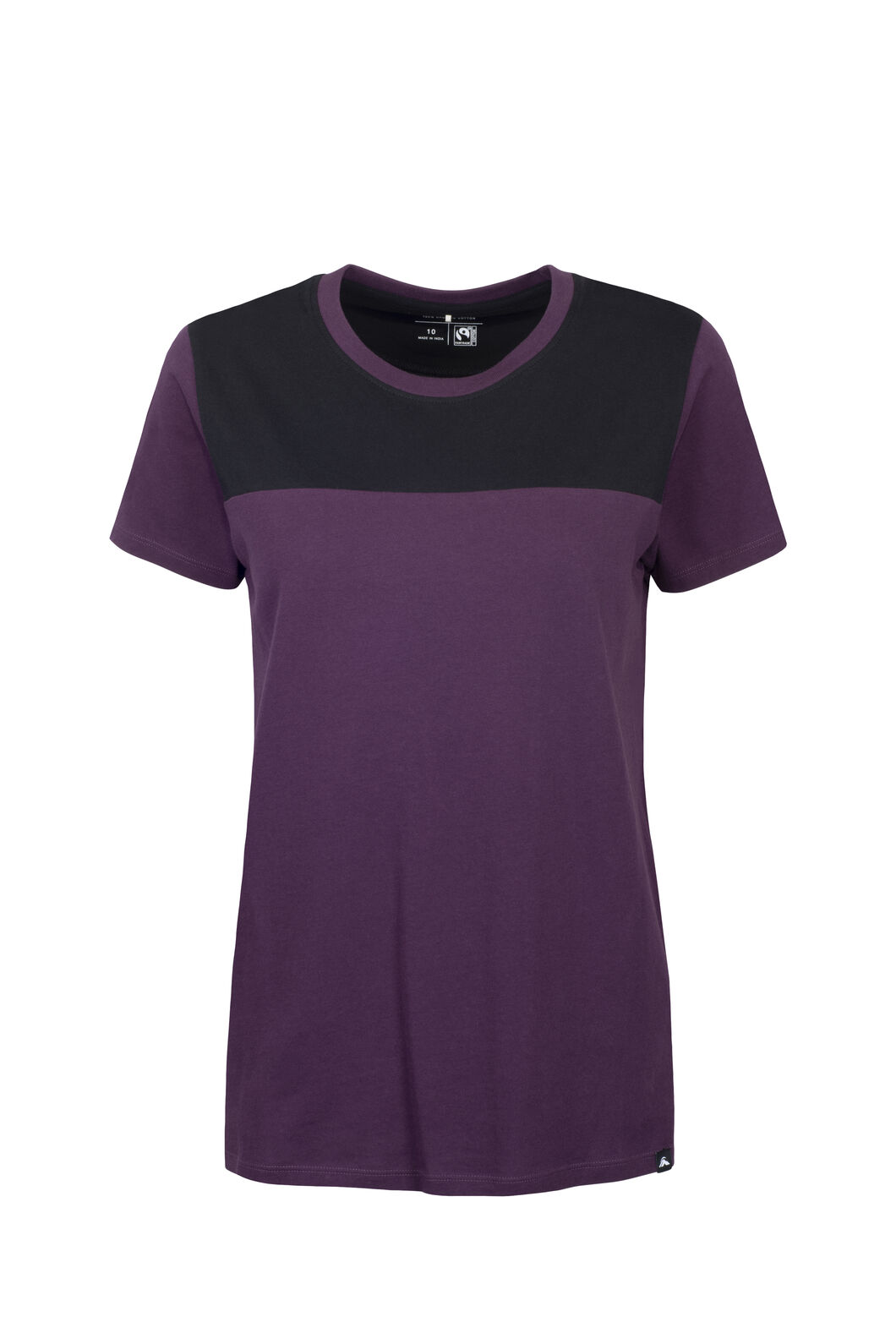 Macpac Panel Fairtrade Organic Cotton Tee — Women's, Blackberry Wine, hi-res
