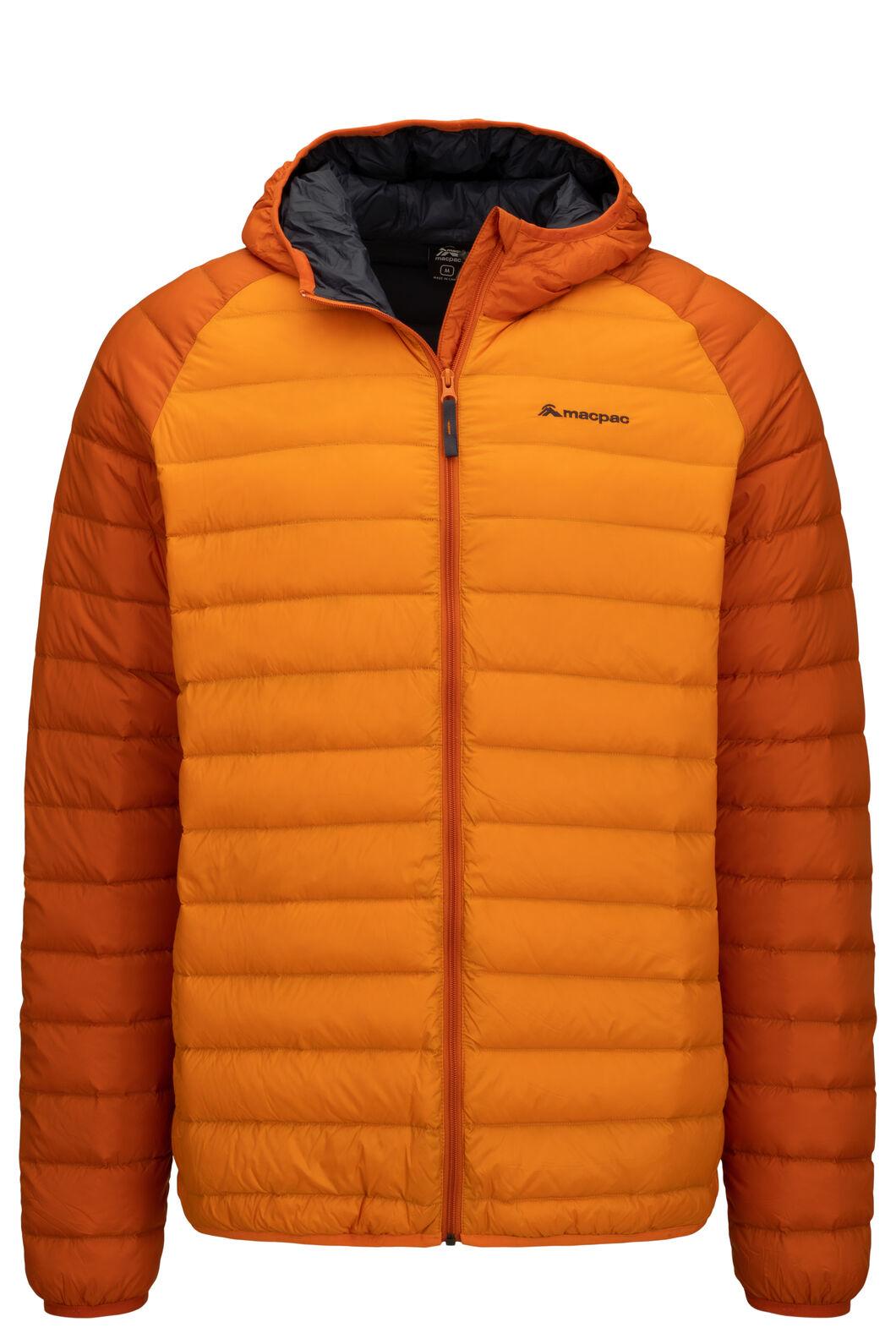 Macpac Uber Hooded Down Jacket — Men's, Orange Flame, hi-res
