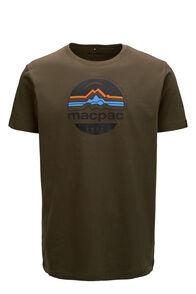 Macpac Men's Retro Fairtrade Organic Cotton Tee, Olive Night, hi-res