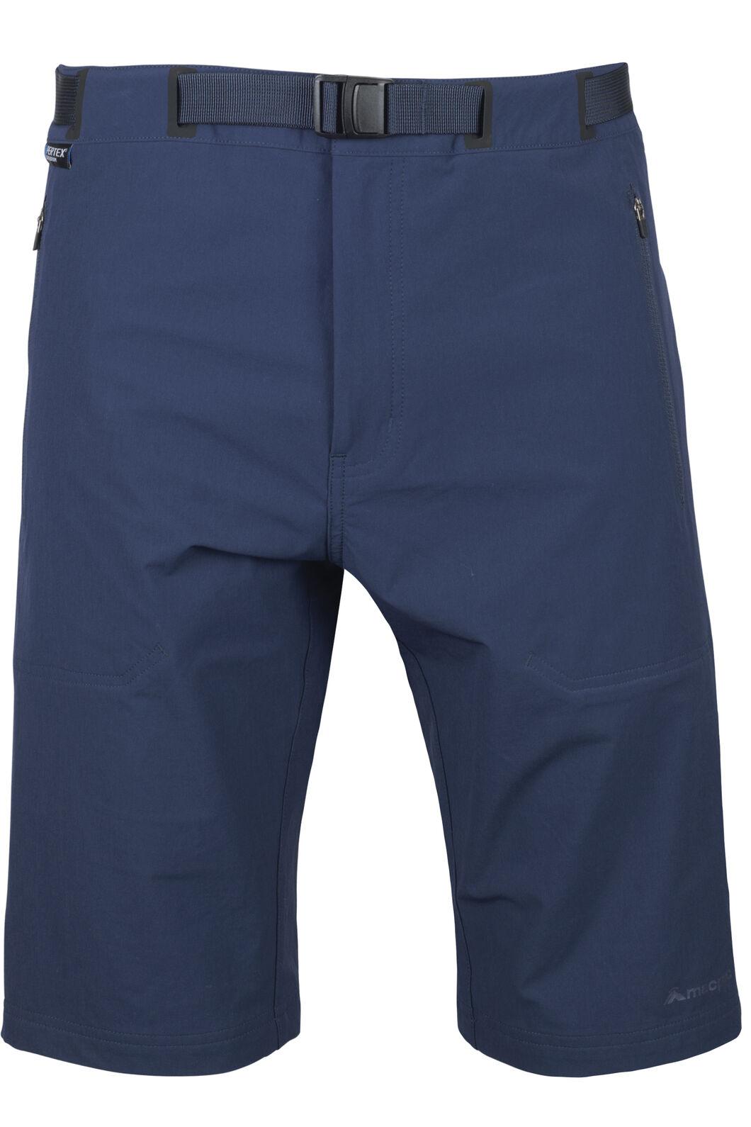 Macpac Trekker Pertex® Equilibrium Softshell Shorts — Men's, Black Iris, hi-res