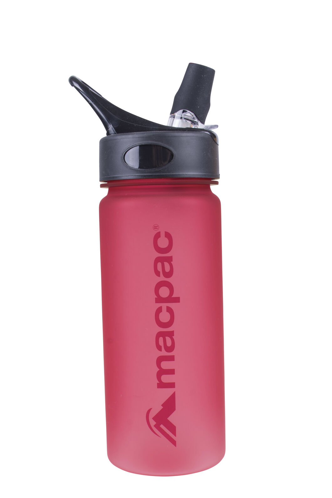 Macpac Flip Top Water Bottle — 550ml, Crimson, hi-res