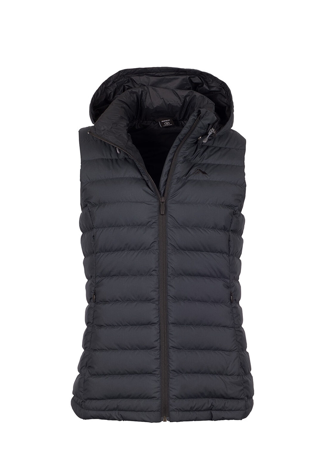 Macpac Zodiac Hooded Down Vest — Women's, Black, hi-res