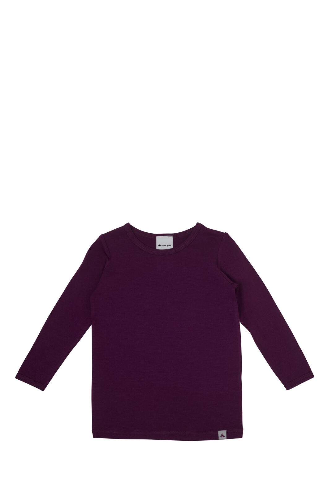 Macpac 150 Merino Long Sleeve Top - Baby, Magenta, hi-res