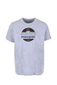Macpac Retro Fairtrade Organic Cotton Tee — Men's, Grey Marle, hi-res