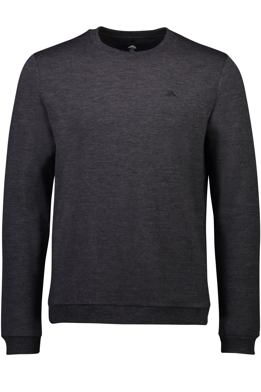 Macpac 280 Merino Long Sleeve Crew - Men's, Charcoal Marle, hi-res