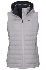 Macpac Zodiac Hooded Down Vest — Women's, Glacier Grey/White Print, hi-res