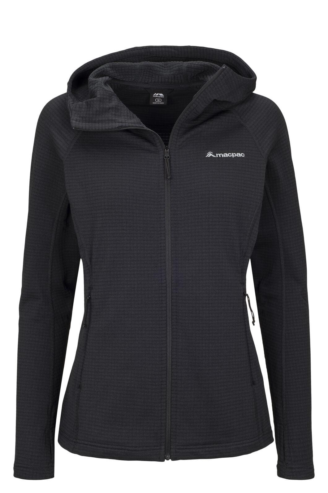 Macpac Women's Ion Polartec® Fleece Hooded Jacket, Black, hi-res