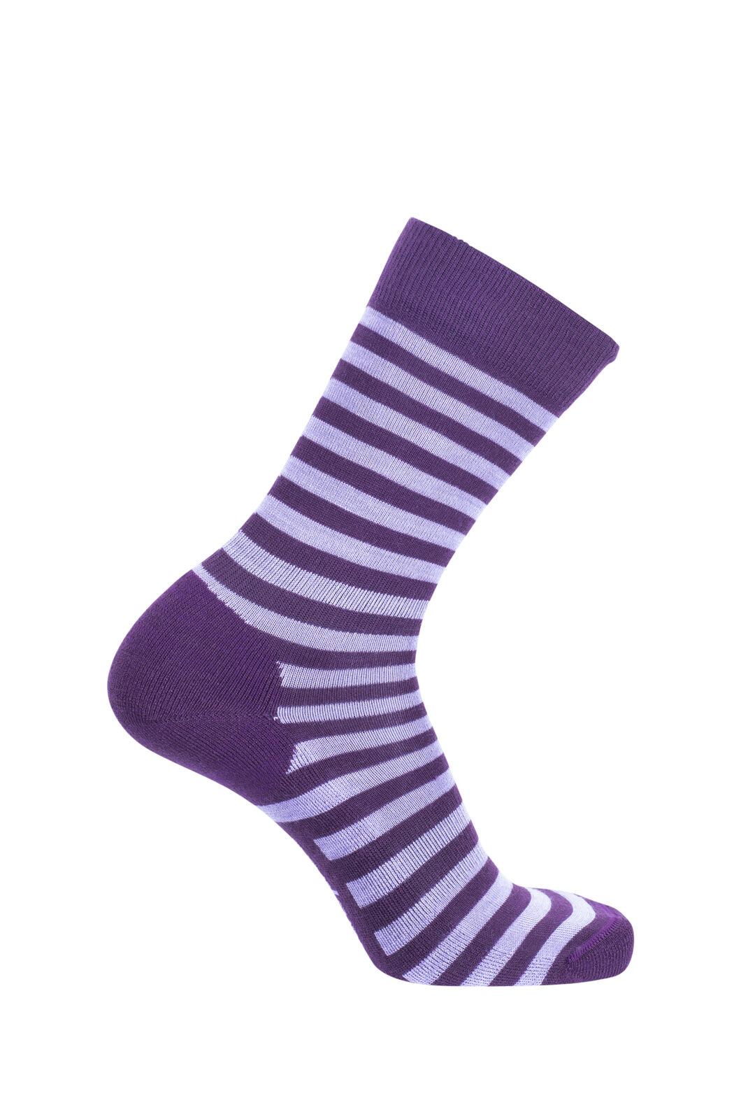 Macpac Merino Blend Footprint Socks, Blackberry Wine Stripe, hi-res