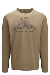 Macpac Men's String Logo Fairtrade Organic Cotton Long Sleeve Tee, Boa, hi-res