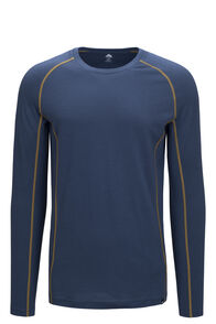 Macpac 150 Merino Long Sleeve Top — Men's, Orion Blue/Dried Tussock, hi-res
