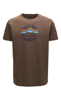 Macpac Retro Fairtrade Organic Cotton Tee — Men's, Olive Night, hi-res