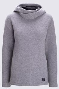 Macpac Women's Mahia Pontetorto® Wool Blend Pullover, Grey Marle, hi-res