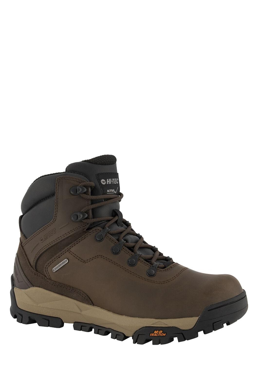 Hi-Tec Altitude Infinity AL Mid WP Hiking Boots — Men's, Dark Chocolate/Taupe/Black, hi-res