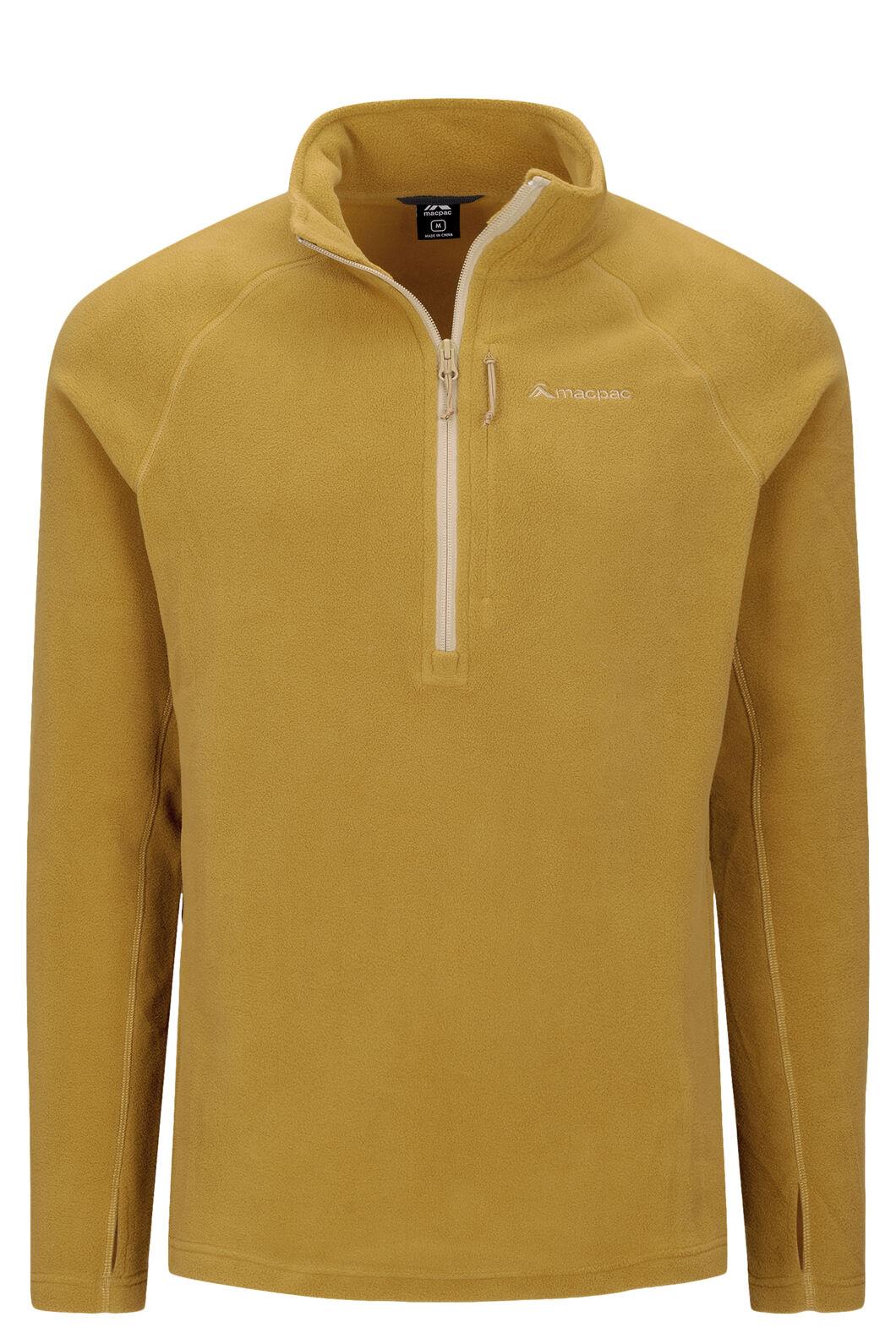 Macpac Tui Polartec® Micro Fleece® Pullover — Men's, Dried Tussock, hi-res