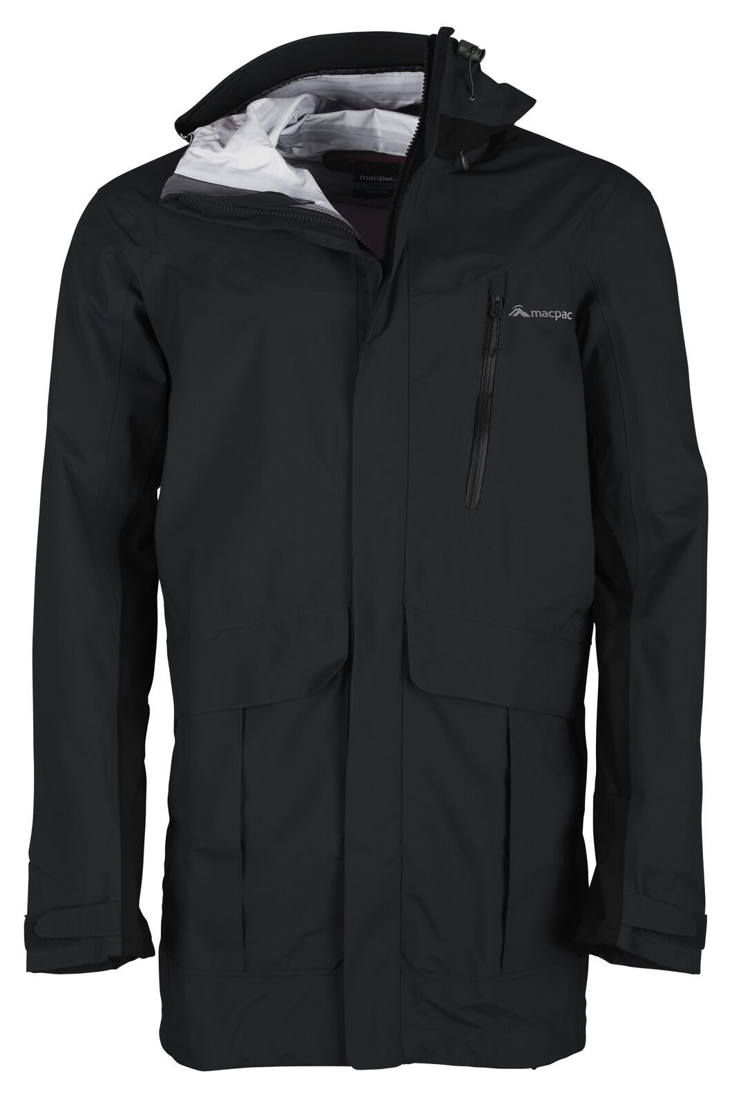 Copland Long Rain Jacket - Men's, Black, hi-res