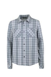 Macpac Eclipse Shirt - Kids', Flint Stone, hi-res