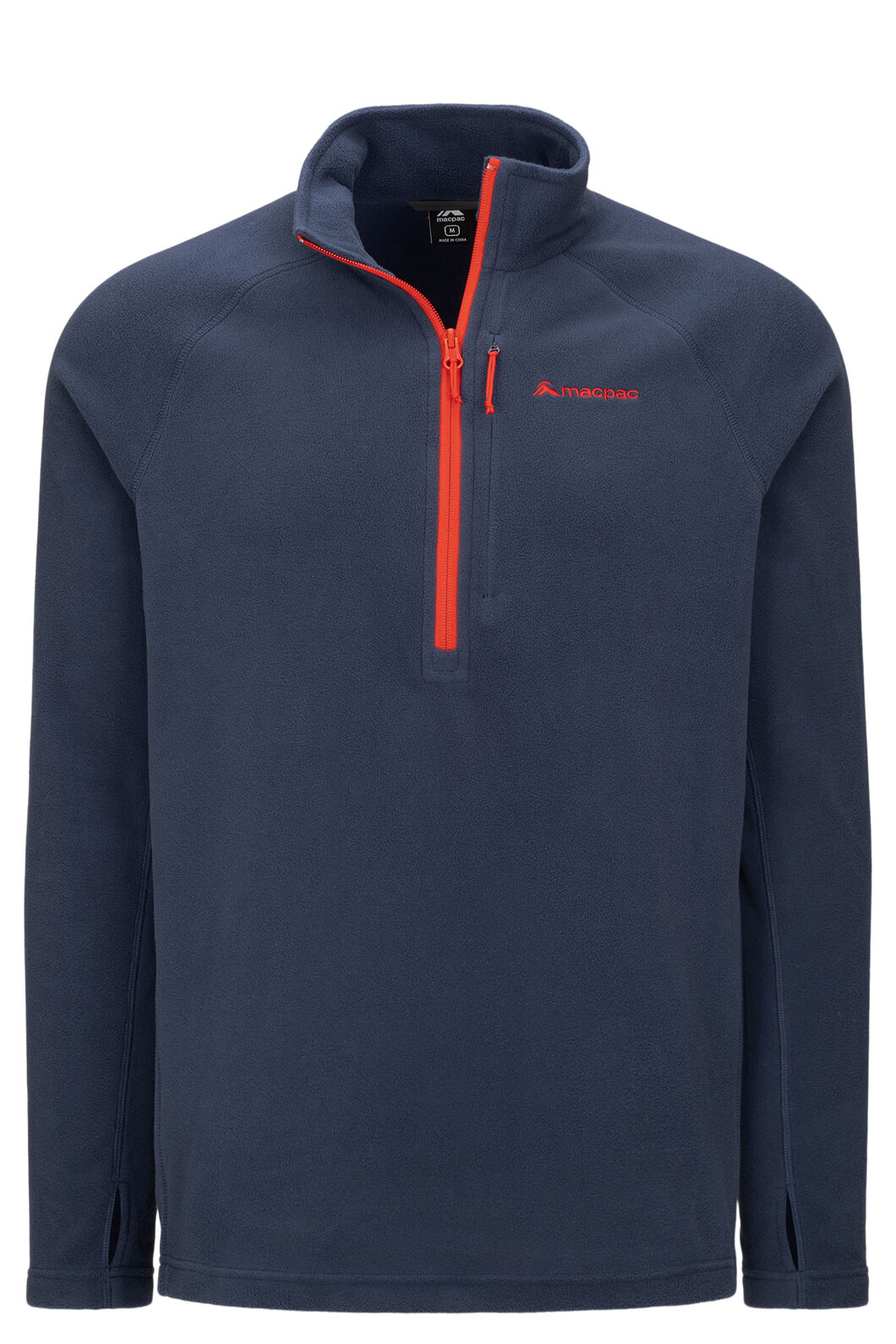 Macpac Tui Polartec® Micro Fleece® Pullover — Men's, Black Iris/Grenadine, hi-res