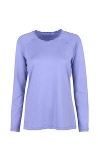 Macpac Eyre Long Sleeve Tee - Women's, Sweet Lavender, hi-res