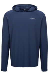 Macpac Eyre Long Sleeve Hooded Top — Men's, Blueprint, hi-res