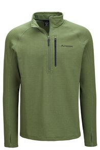 Macpac Men's Ion Polartec® Fleece Half Zip Pullover, Bronze Green, hi-res