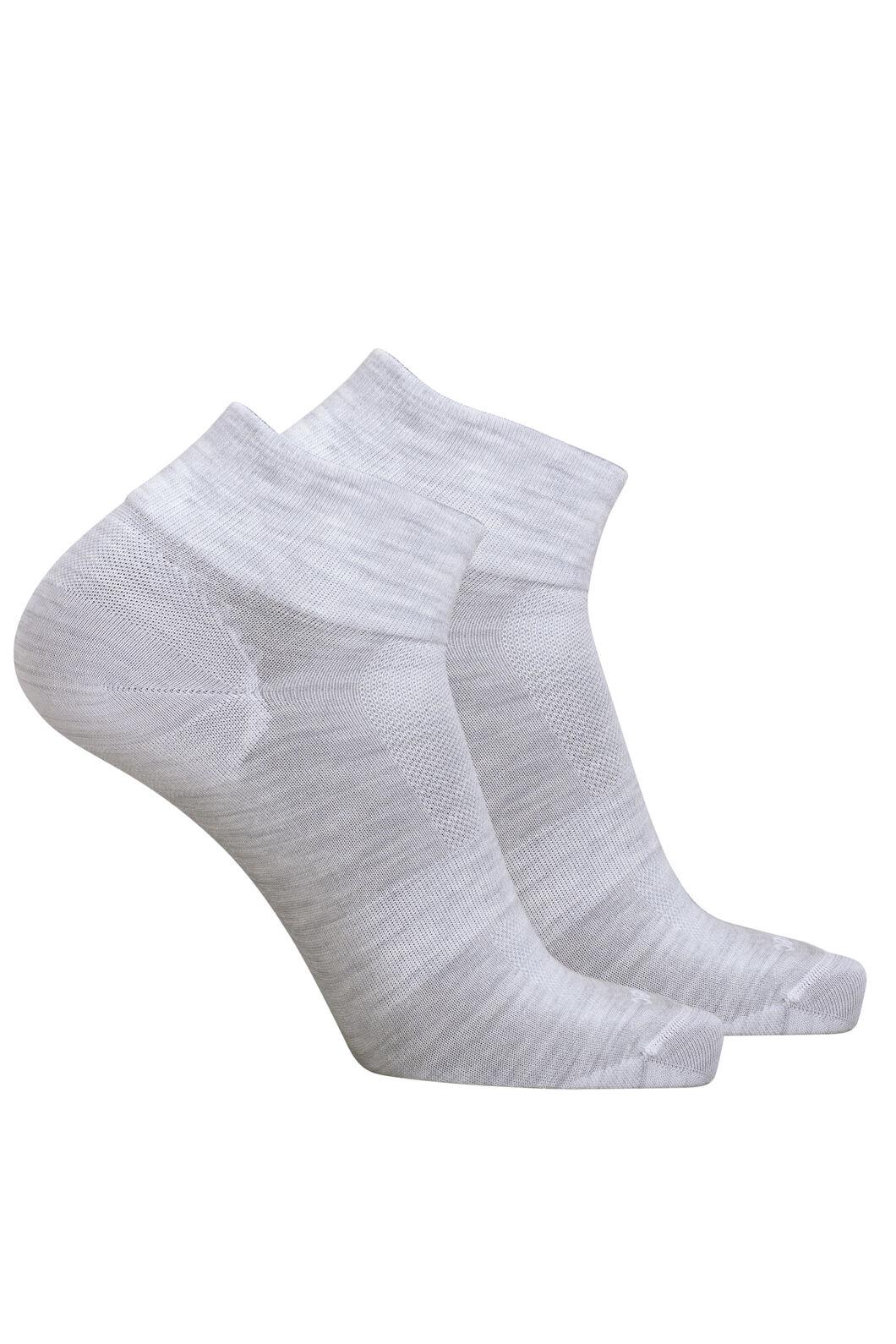 Macpac Merino Blend Quarter Socks — 2 Pack, Light Grey Marle, hi-res