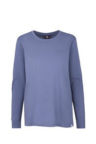 Macpac Flora Organic Long Sleeve Tee - Women's, China Blue, hi-res