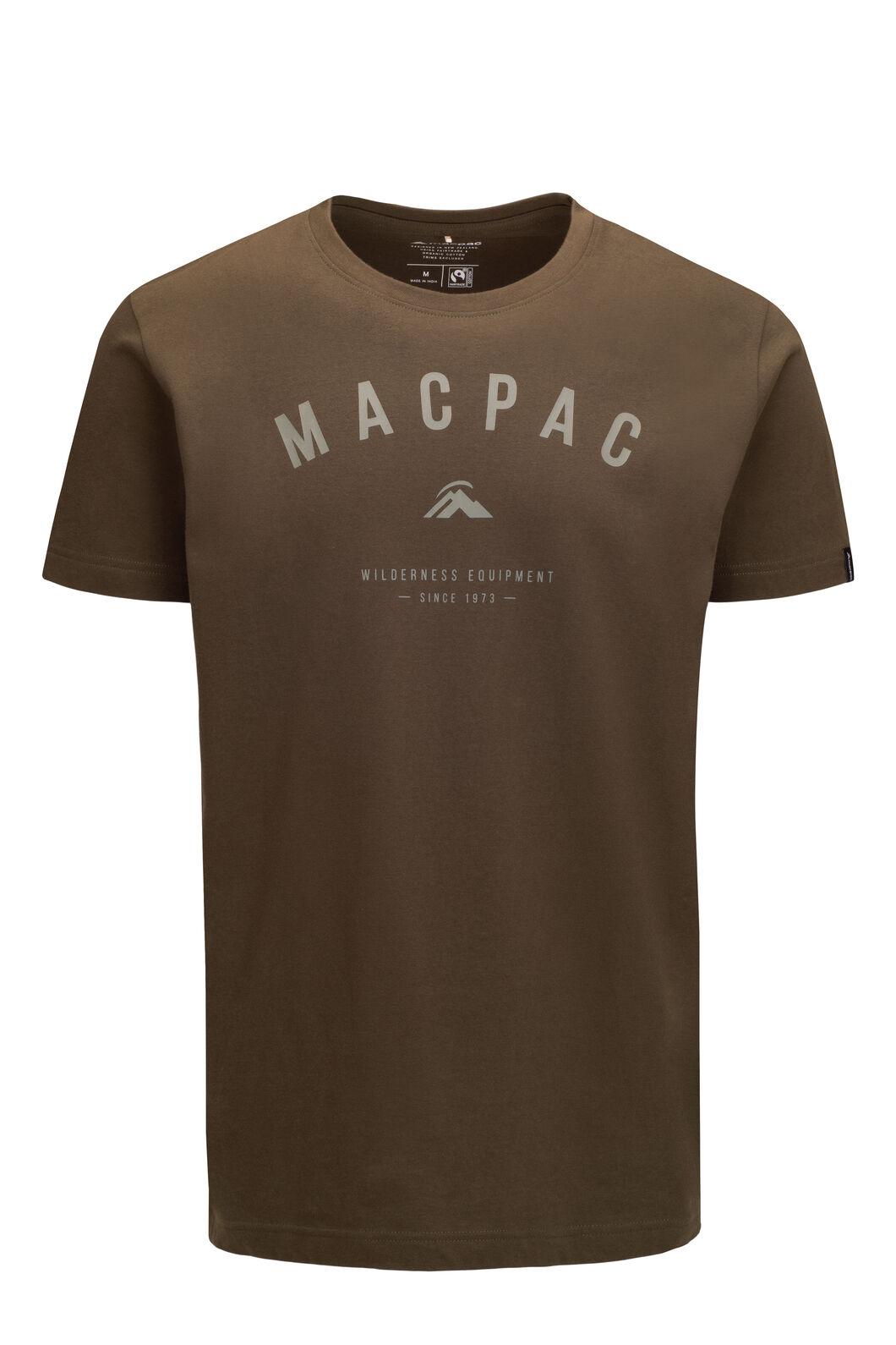 Macpac Men's Graphic Short Sleeve Tee, Olive Night, hi-res